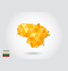 geometric polygonal style map of lithuania low vector image