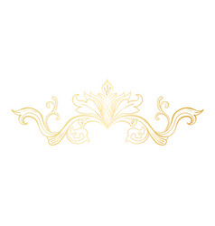 Golden isolated headpiece floral decoration vector