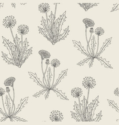 Gorgeous contour botanical seamless pattern with vector