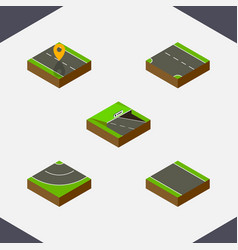 Isometric road set of navigation without strip vector