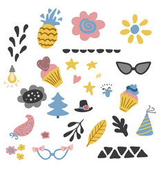 kids elements collection set in vector image