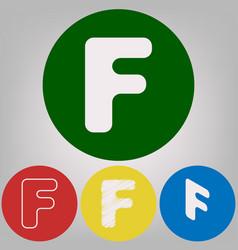 letter f sign design template element 4 vector image