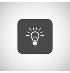 Light bulb icon lamp vector image