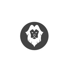 lion logo template icon vector image