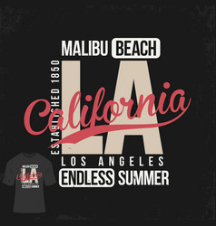 los angeles california t-shirt design typography vector image