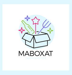 magic food box logo vector image