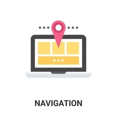 Navigation icon concept vector