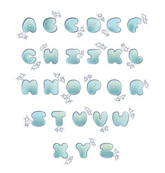 plump handwritten bubble alphabet set vector image vector image