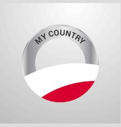 Poland my country flag badge vector