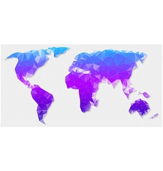 polygon map of the world vector image