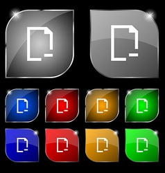Remove Folder icon sign Set of ten colorful vector