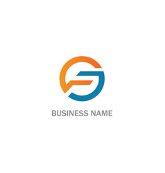 round circle colored business logo vector image