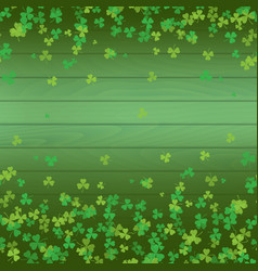 saint patricks day frame green tree leaf clovers vector image