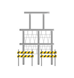 Scaffold and trafic barrier vector