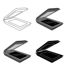 Scanner icon in cartoon style isolated on white vector