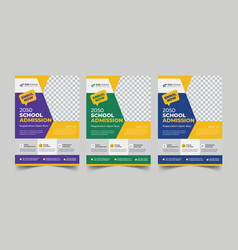 School admission education flyer template vector