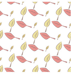Seamless of leaves art graphic set vector