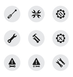 Set of 9 editable service icons includes symbols vector