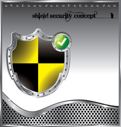 Shield security concept background vector