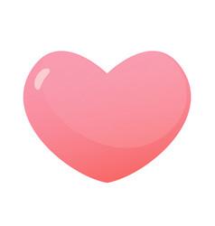shiny heart isolated on white background vector image