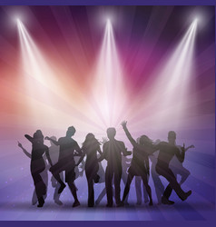 Silhouettes of people dancing vector