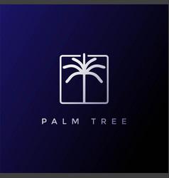 simple minimalist palm coconut tree logo vector image