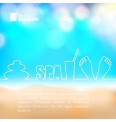 Spa design vector image