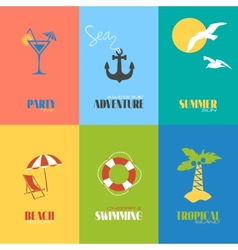 Summer time posters vector image