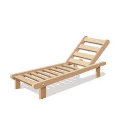 Sun lounger isolated on white background vector