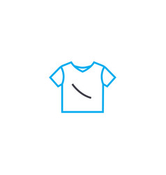 t shirt thin line stroke icon t shirt vector image