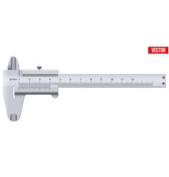 the vernier caliper and scale vector image