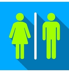 Toilets Flat Long Shadow Square Icon vector