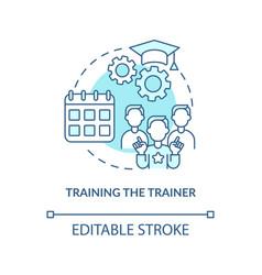 Training trainer concept icon vector