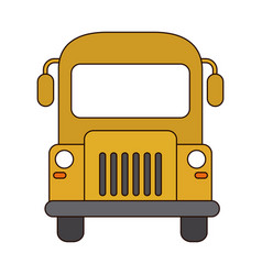 trasnport bus front view line and fill style icon vector image