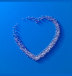Valentine Dot Background with Heart shape on Blue vector image