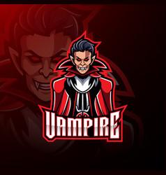 vampire esport mascot logo design vector image