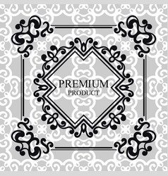 vintage luxury background with retro elements vector image