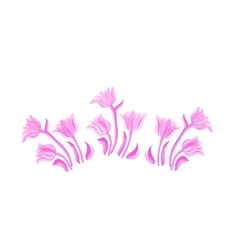 Vintage pink tulip se vector image