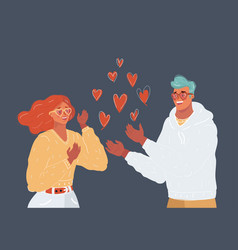 young couple in love they vector image