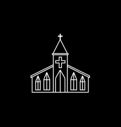 church line icon religion building elements vector image