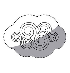 figure spiral cloud icon vector image