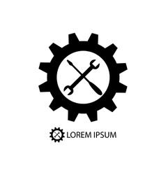 Gear wheel and piece as logo vector image vector image