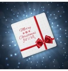 Greeting christmas card vector image