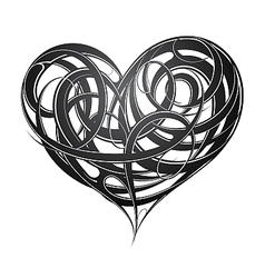 Heart shape original decoration vector image