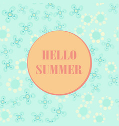 hello summer poster pastel summer party design vector image