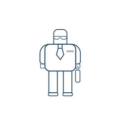 Modern robot business man futuristic mechanism vector