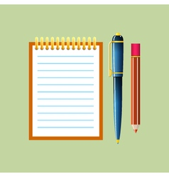 Notebook Isolated on Green Background vector image