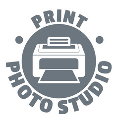 print photo studio logo simple style vector image