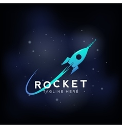 Rocket space ship abstract sign icon or vector