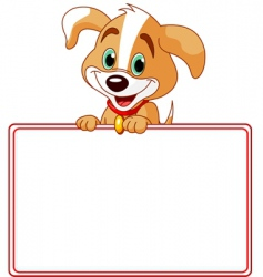 puppy place card vector image vector image